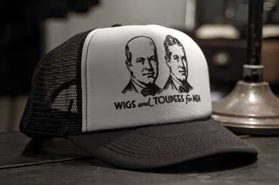 "Mesh back cap ""WIGS and TOUPEES for MEN"""