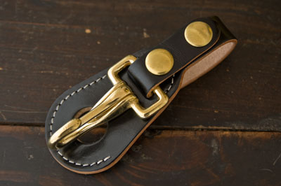 Belt Keyholder with Leather back