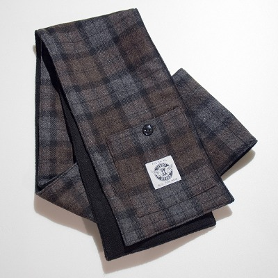 商品入荷のお知らせ — Muffler with Pocket, Brown check