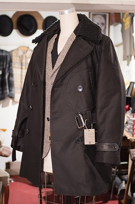Double Breasted Style Men's Coat 襟ボア状態