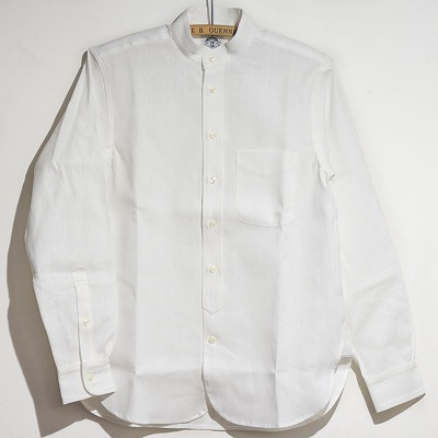 Semi Dress Work Shirts, Stand-up collar 正面写真