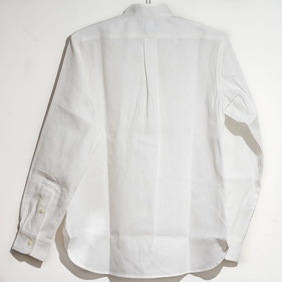 Semi Dress Work Shirts, Stand-up collar 背面写真