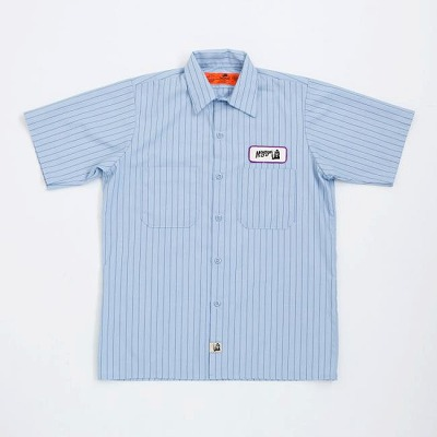 """MOJOJO"" VALLEY AUTO WORK SHIRTS / SHORT SLEEVE / SKY BLUE"
