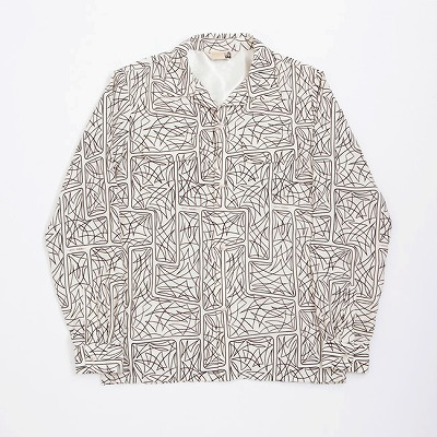 PINSTRIPING RAYON SHIRTS / LONG SLEEVES / OFF WHITE
