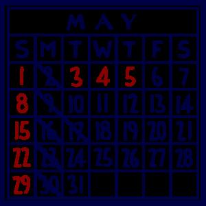 カレンダー:2016/05