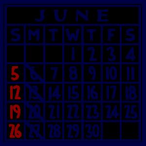 カレンダー:2016/06