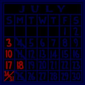 カレンダー:2016/07