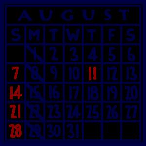 カレンダー:2016/08