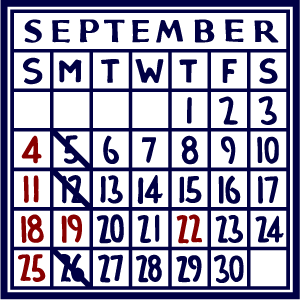 カレンダー:2016/09