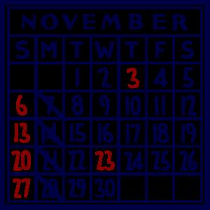 カレンダー:2016/11
