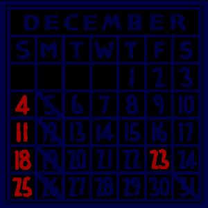 カレンダー:2016/12