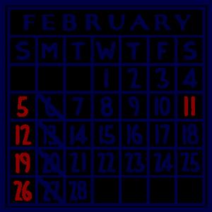 カレンダー:2017/02