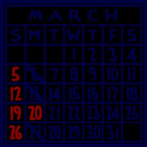 カレンダー:2017/03