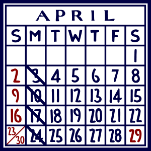 カレンダー:2017/04
