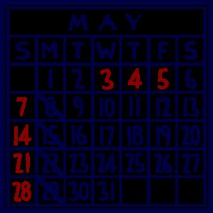 カレンダー:2017/05