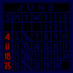 カレンダー:2017/06
