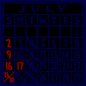 カレンダー:2017/07