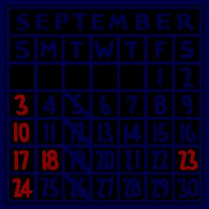 カレンダー:2017/09