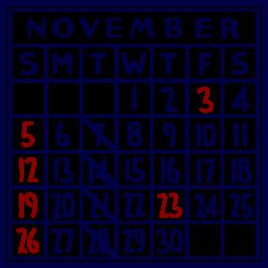カレンダー:2017/11
