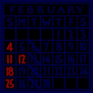 カレンダー:2018/02