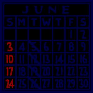 カレンダー:2018/06